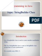 String Handling(StringBuilder Class)