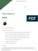 Figs Nutrition Information & Storage Information