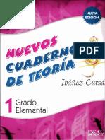 Nuevos Cuadernos Teoria Musical Ibañez Cursa 1 Grado Elemental