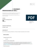 Baccalauréat en Musique - Musicologie (B. Mus.) _ Université Laval