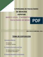 marco legal y normativo de medicina