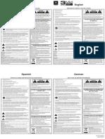 JBL 3 Series MkII Quick Setup Guide