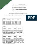 Grelha- Turmas e ni´veis dos Cursos Livres 1º semestre 19-20 (1)