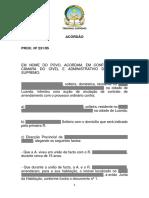 TSCCA Acórdão Proc. Nº 231 95 de 15 de Março de 1996 Def