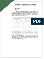 Historia de Puerto y Aeropuertos en El Peru
