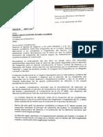 Documento de bancadas a Pedro Olaechea por comisión de TC