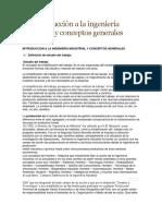 1.1 Introducción a La Ingeniería Industrial y Conceptos Generales