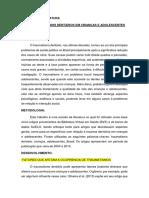 TRAUMATISMOS DENTÁRIOS EM CRIANÇAS E ADOLESCENTES