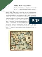 El Origen de La Civilización Griega