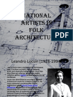 National Artists in Folk Architecture