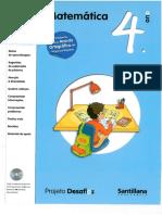 Projeto Desafios Santillana - Matemática 4º Ano