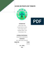 Informe de Elaboracion de Pasta de Tomate - TERMINADO