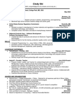 cindy shi resume