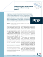 A Systematic Approach to Deep Caries Removal End Points