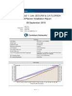 Link JECUAN to LA FLORIDA Installation Report