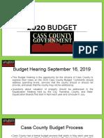 2020 Cass County Budget PowerPoint 9-10-19