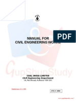 Manual for Civil Engineeringworks