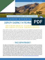 2019 DDA III or IV Job Bulletin for CDAA 4