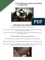 Entendendo as Fases Do Estresse e Evitar a Ansiedade e a Depressão - PDF
