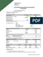 Dosificacion de Mezcla 2006 -210