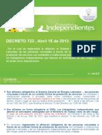 Decreto 723 de Abril 15 de 2013