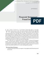 Financial Statement Fraud Indicators