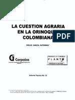 La cuestion agraria de la orinoquia colombiana