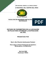 1. estudios de parámetros en la lixiviación en pilas para optimizar la extracción de oro.pdf