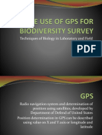 02. the Use of GPS for Biodiversity Survey