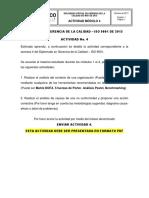 Actividad de Entrega Módulo 4 DIPLOMADO GERENCIA DE LA CALIDAD