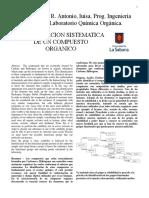 Identificacion sistematica de acido salicilico