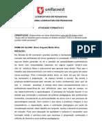 Atividade Avaliativa 1B -Unifastvest