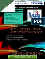 Vision General de La Gerencia Estrategica