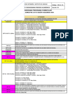 Cronograma Periodo Académico 2019-2 Según Acuerdo 064