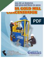 concentrador de oro en seco - manual