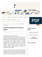 Uses of Computers in Various Fields.pdf