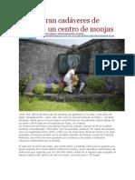LA PAGINA - Encuentran Cadáveres de Niños en Un Centro de Monjas