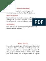 COMPARACIÓN DEL NIVEL CULTURAL DE JAPÓN Y PERI