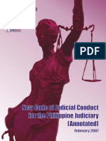 New Code of Judicial Conduct-Annotated