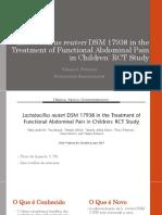 Lactobacillus Reuteri DSM 17938 in the Treatment Of
