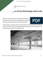 Flat Slab – Types of Flat Slab Design and Its Advantages
