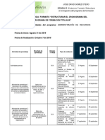 SEMANA 2 -Evidencia - Formato Estructurar El Cronograma Del Programa de Formación Titulada