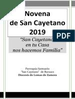 Novena de san Cayetano 2019