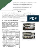 Obtencion de Acetileno y Propiedades Alquinos Corregido