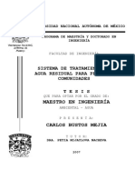 SISTEMA DE TRATAMIENTO DE AGUA RESIDUAL PARA PEQUEÑAS COMUNIDADES