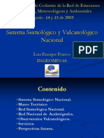 II Taller Red 3.Redes Otras Entidades 3.1.Ingeominas 3.1.3.RSNC Red Vulcanologica