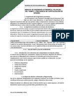 UNIDAD I. FUNDAMENTOS DE INGENIERÍA ECONÓMICA, VALOR DEL DINERO A TRAVÉS DEL TIEMPO Y FRECUENCIA DE CAPITALIZACIÓN DE INTERÉS.