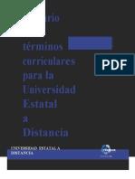FINAL24!9!13 Glosario de Trminos Curriculares UNED