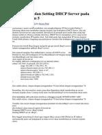 Cara Install Dan Setting DHCP Server Pada Linux Debian