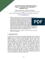 Factors Influencing Organisational